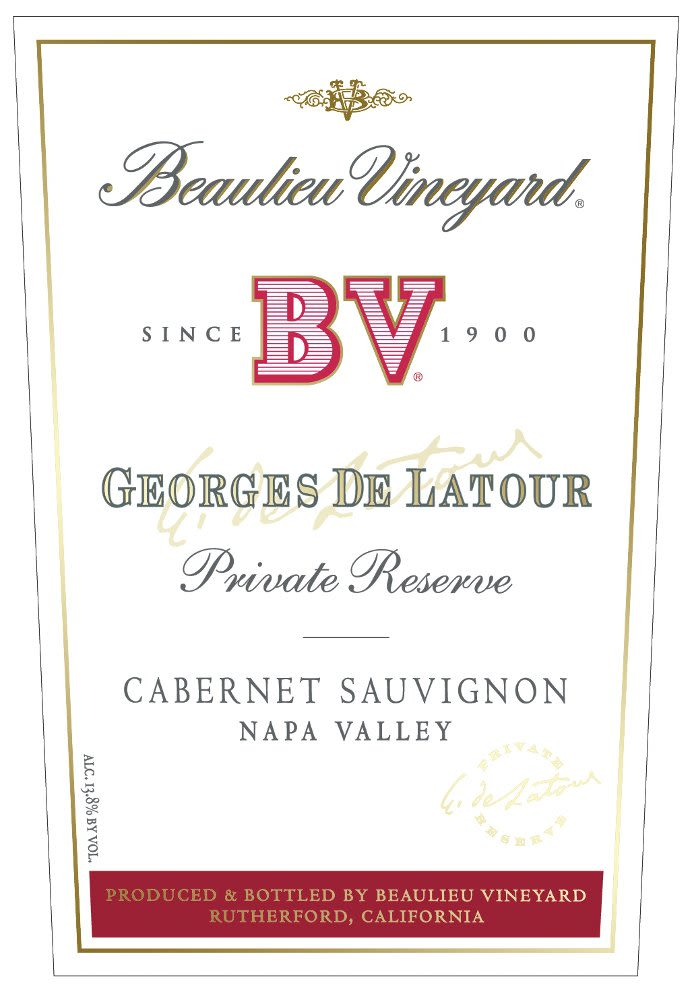 Beaulieu Vineyard Georges de Latour Private Reserve 1993  Front Label