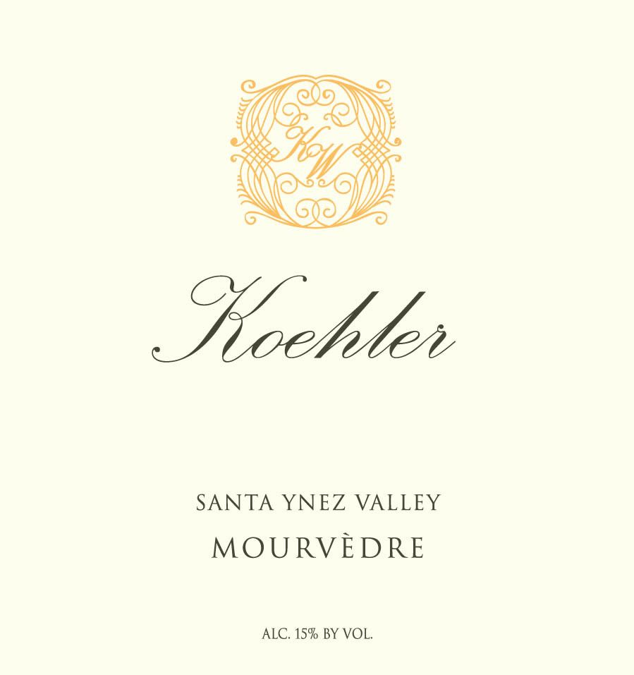 Koehler Winery Santa Ynez Valley Mourvedre 2016  Front Label