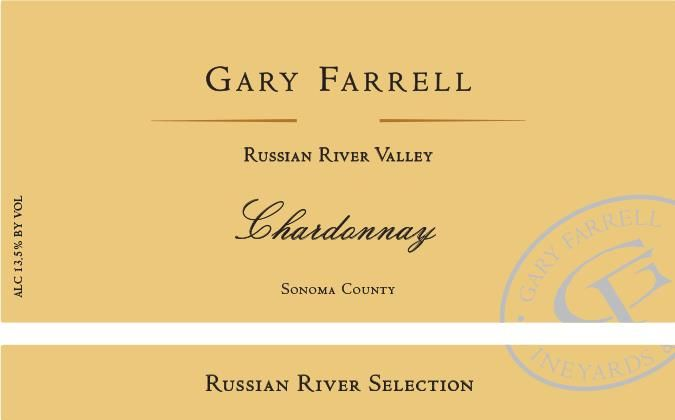 Gary Farrell Russian River Chardonnay 2017 Front Label
