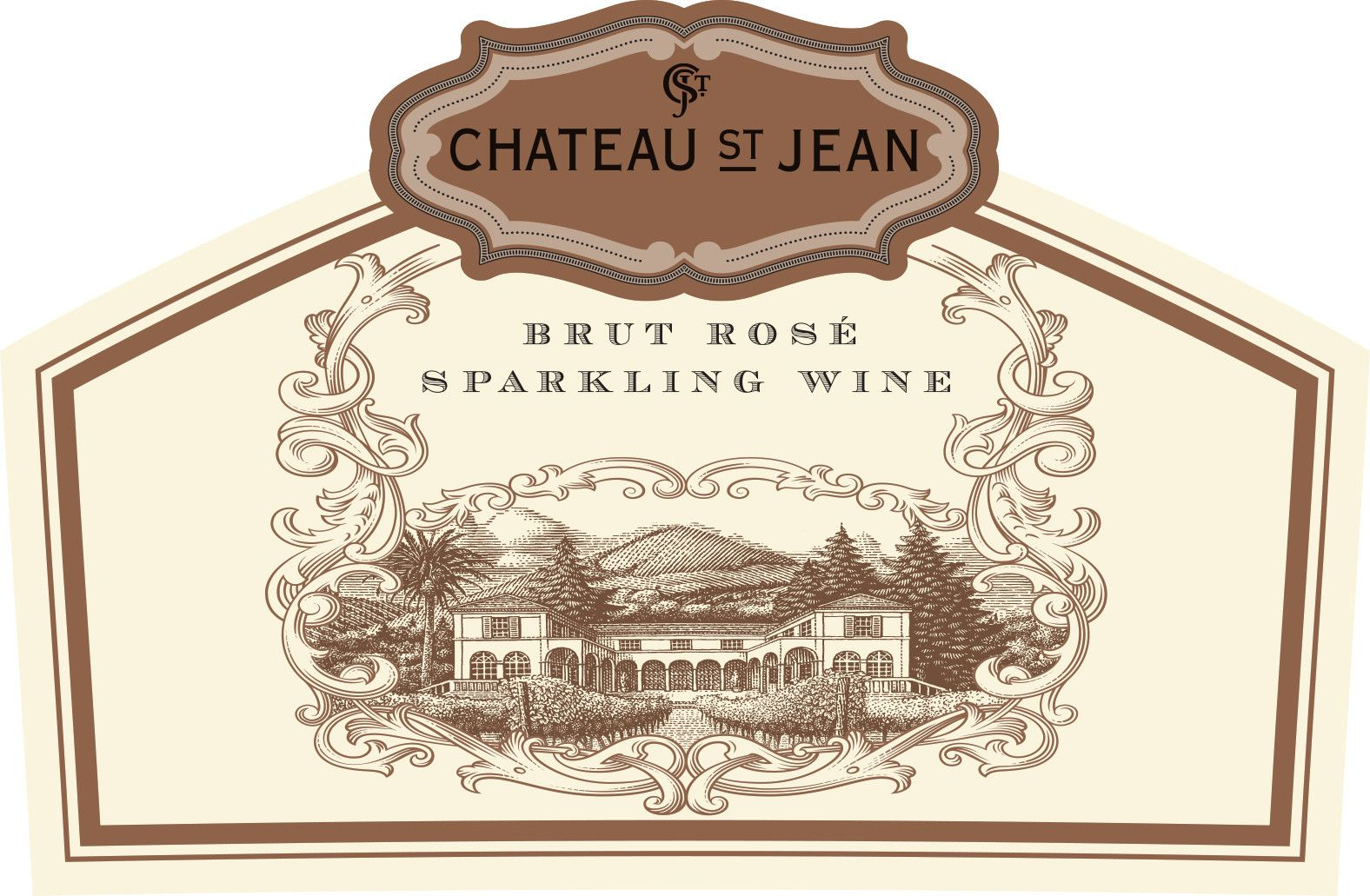 Chateau St. Jean Sparkling Rose  Front Label