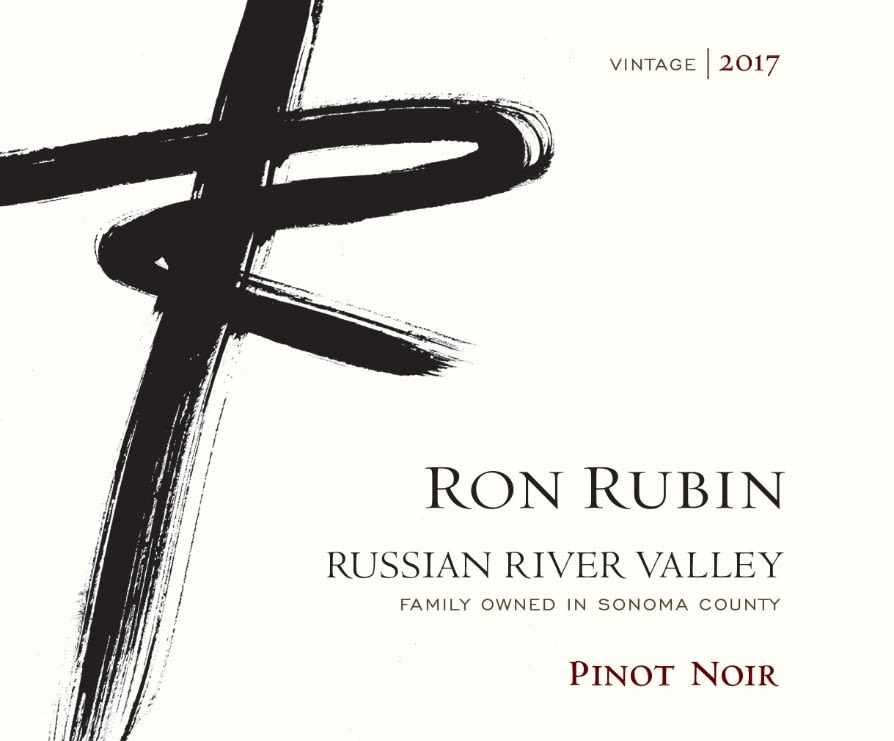 Ron Rubin Russian River Valley Pinot Noir 2017  Front Label