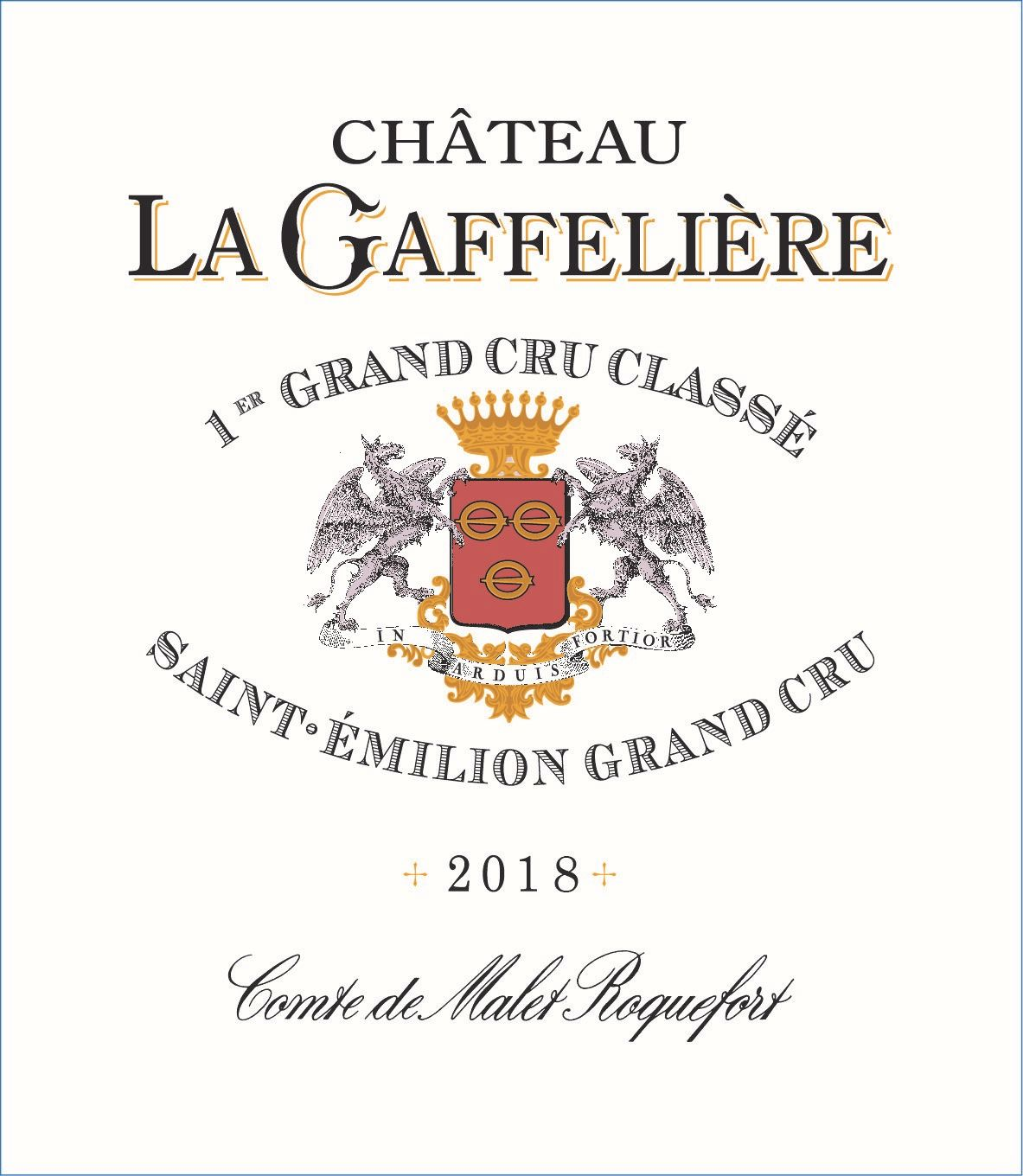 Chateau La Gaffeliere (Futures Pre-Sale) 2018  Front Label