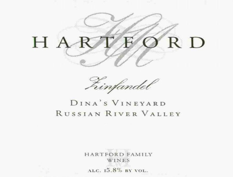 Hartford Dina's Vineyard Zinfandel 2001  Front Label