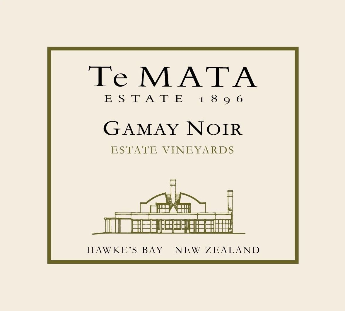 Te Mata Estate Vineyards Gamay Noir 2018 Front Label