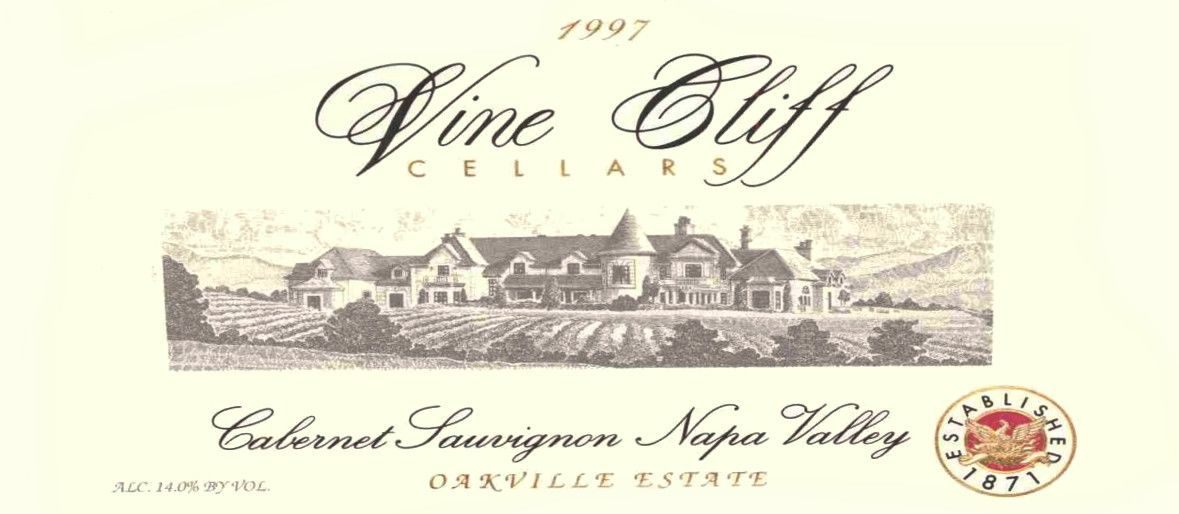 Vine Cliff Oakville Estate Cabernet Sauvignon 1997  Front Label