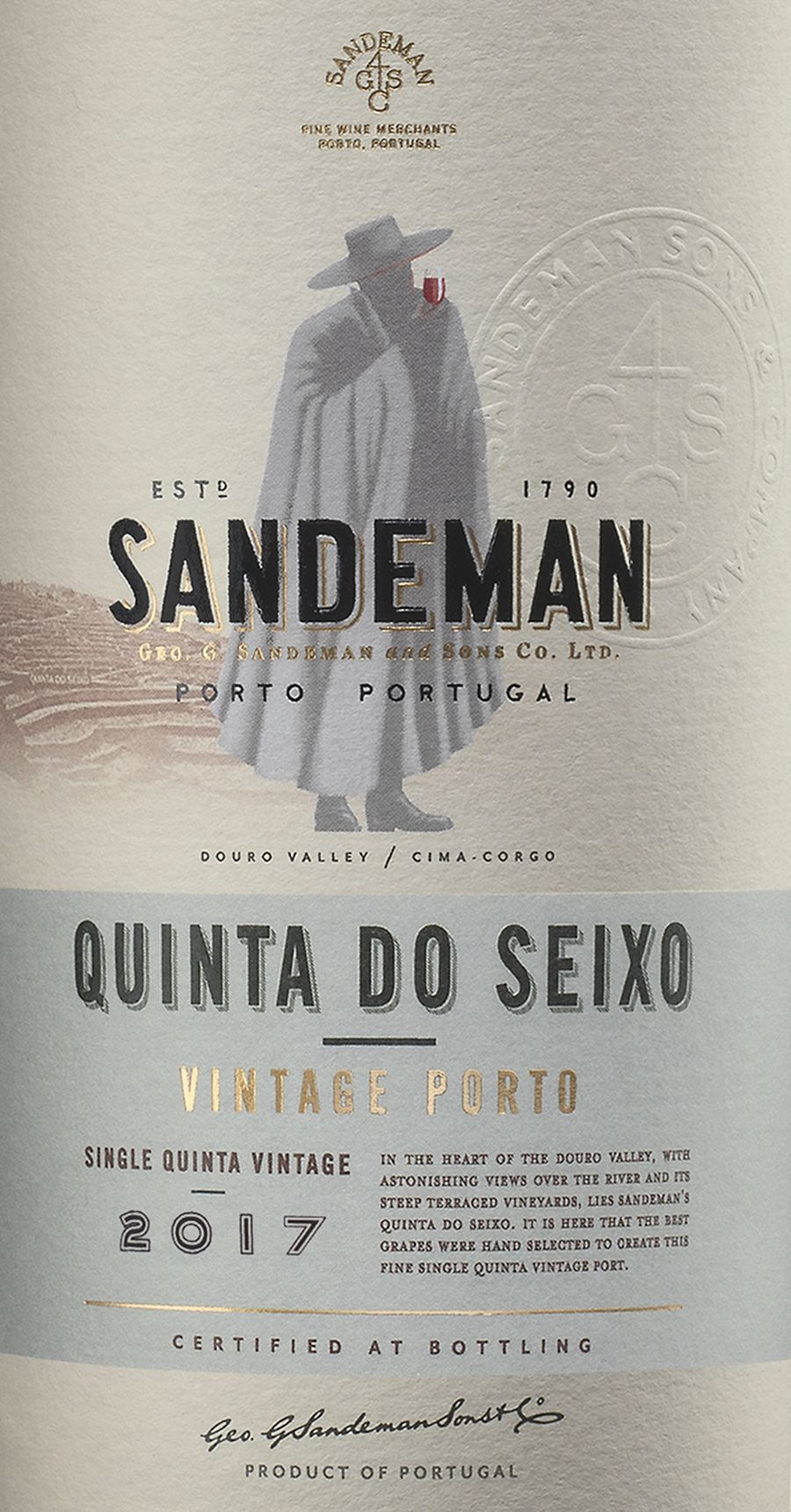 Sandeman Quinta Do Seixo 2017  Front Label