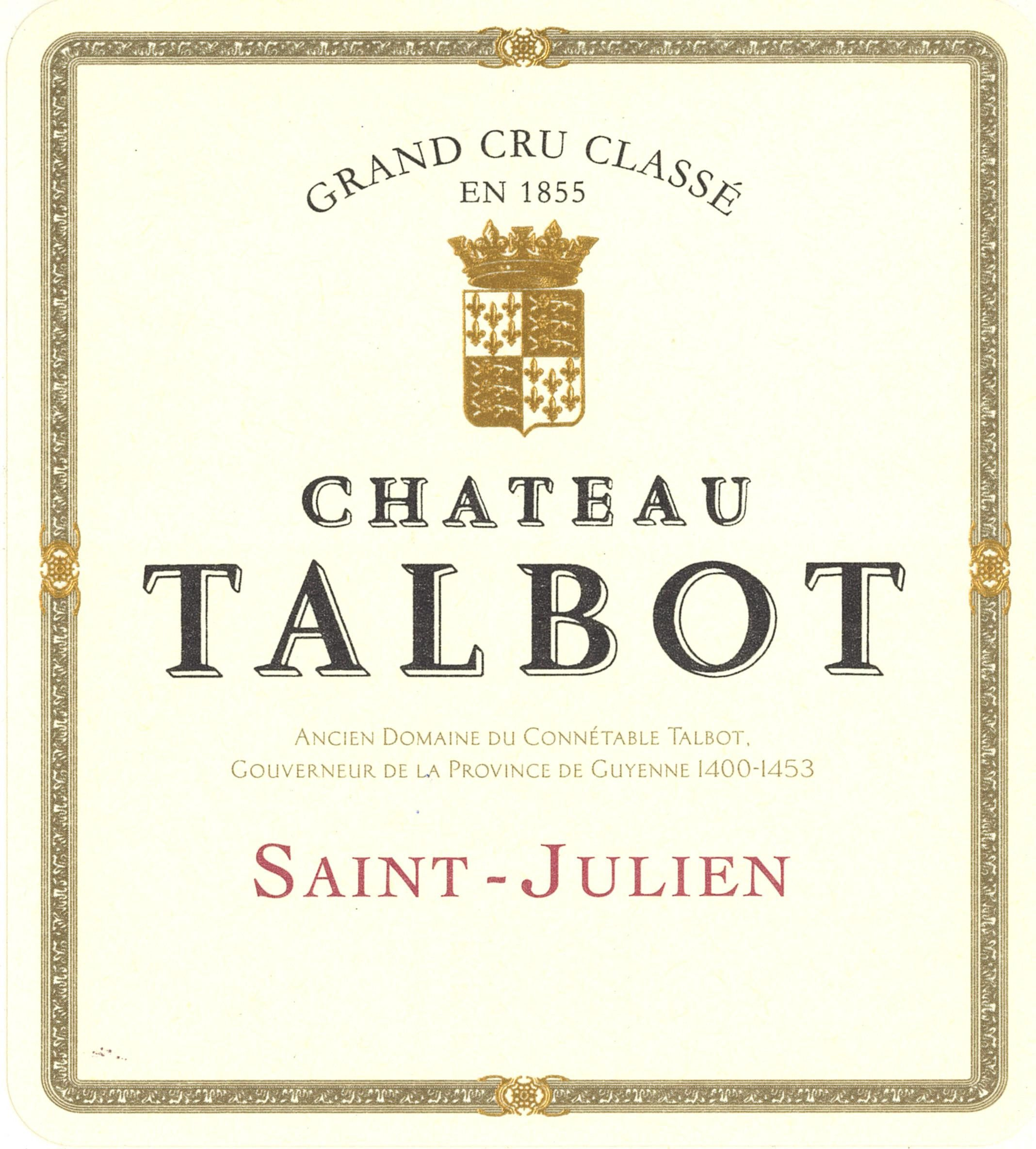 Chateau Talbot (Futures Pre-Sale) 2018  Front Label