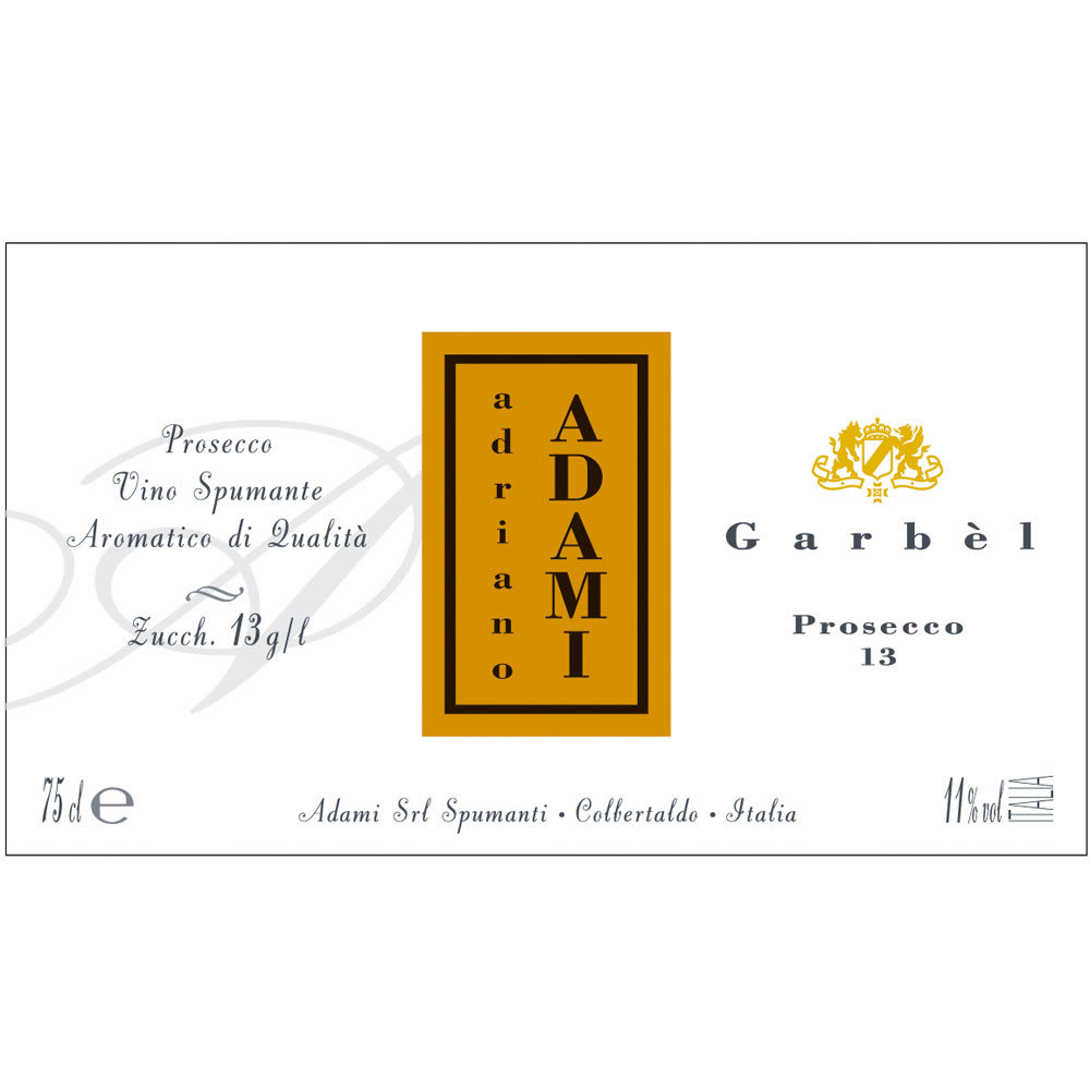 Adami Garbel Brut Prosecco - Champagne & Sparkling