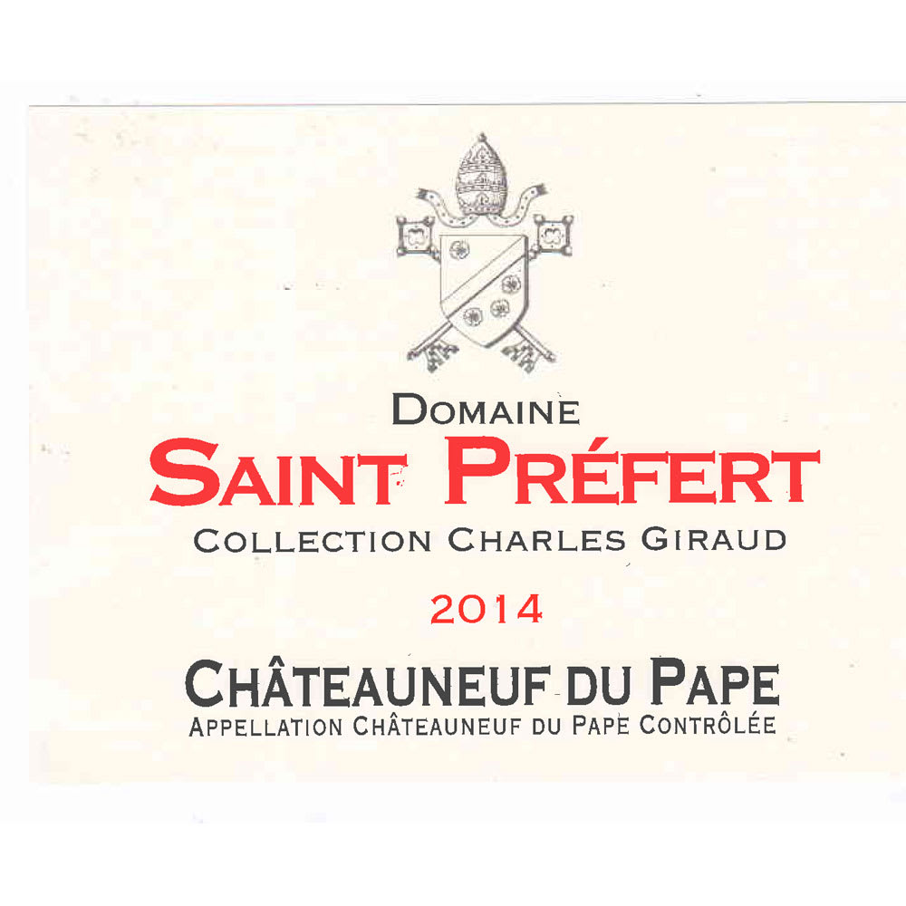 Domaine Saint Prefert 2014 Chateauneuf-du-Pape Collection Charles Giraud - Rhone Blends Red Wine