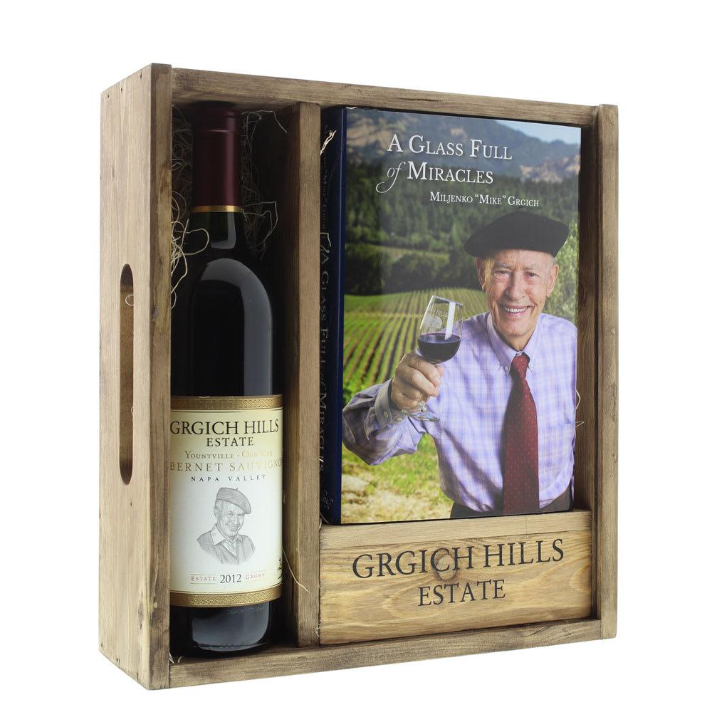 Grgich Hills Estate Estate Cabernet & Founding Winemaker's Autobiography Set - Wine Collection Gift