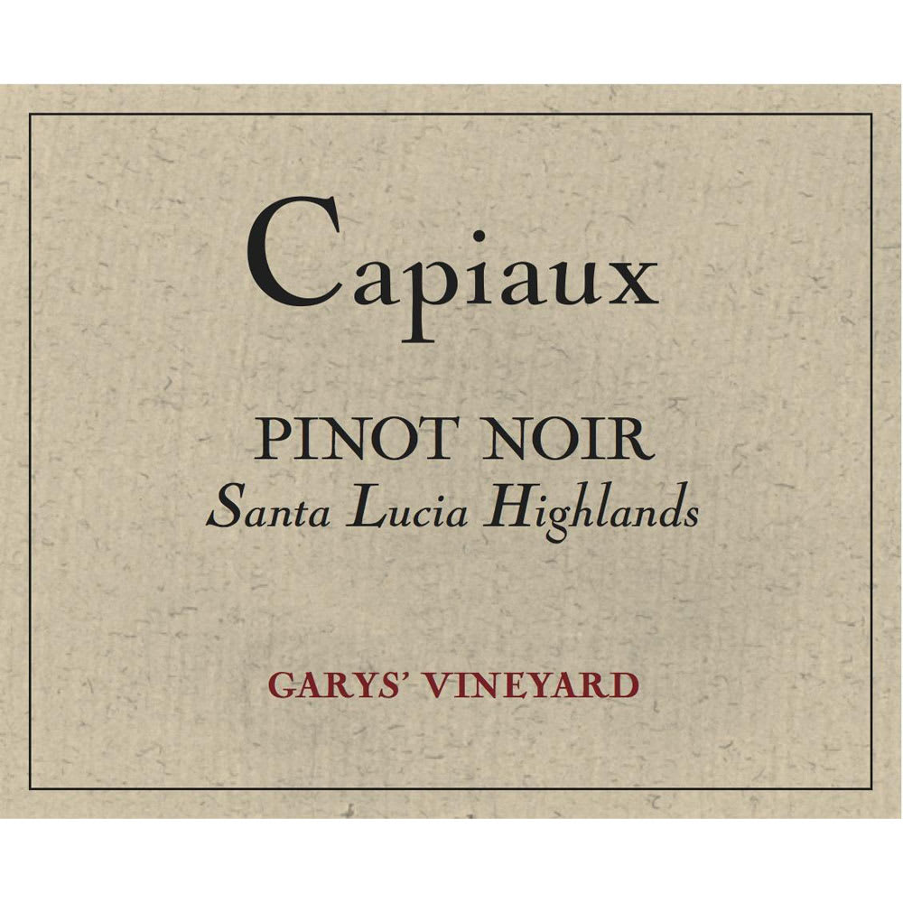 Capiaux Cellars 2015 Garys' Vineyard Pinot Noir - Red Wine