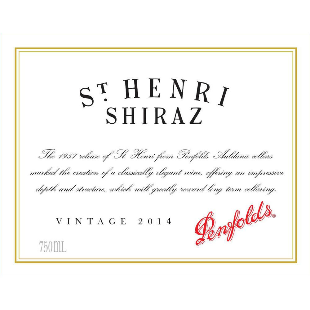 Penfolds 2014 Saint Henri Shiraz - Syrah/Shiraz Red Wine