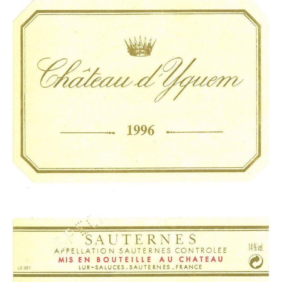 Chateau d'Yquem 1996 Sauternes (375ML half-bottle) - Dessert Wine