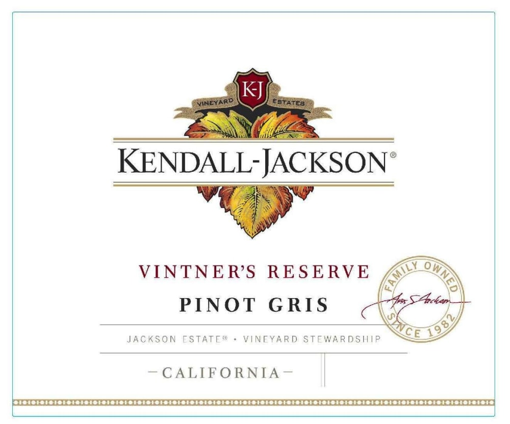 Kendall-Jackson 2018 Vintner's Reserve Pinot Gris - Pinot Gris/Grigio White Wine