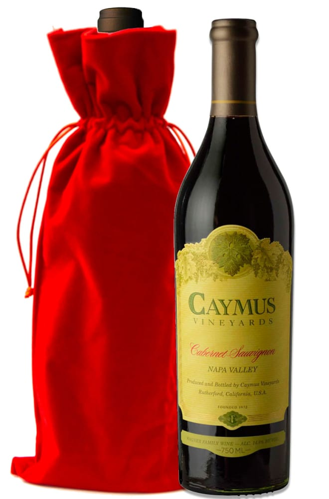 Caymus Napa Valley Cabernet Sauvignon with Red Velvet Gift Bag - Wine Collection Gift