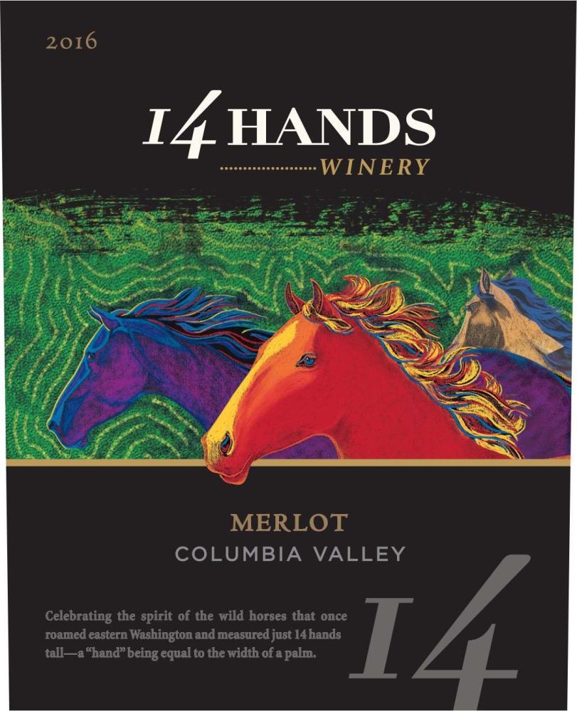 14 Hands 2016 Merlot - Red Wine