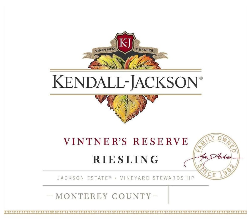 Kendall-Jackson 2018 Vintner's Reserve Riesling - White Wine
