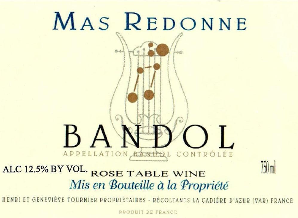 Mas Redonne 2017 Bandol Rose - Rosé Rosé Wine