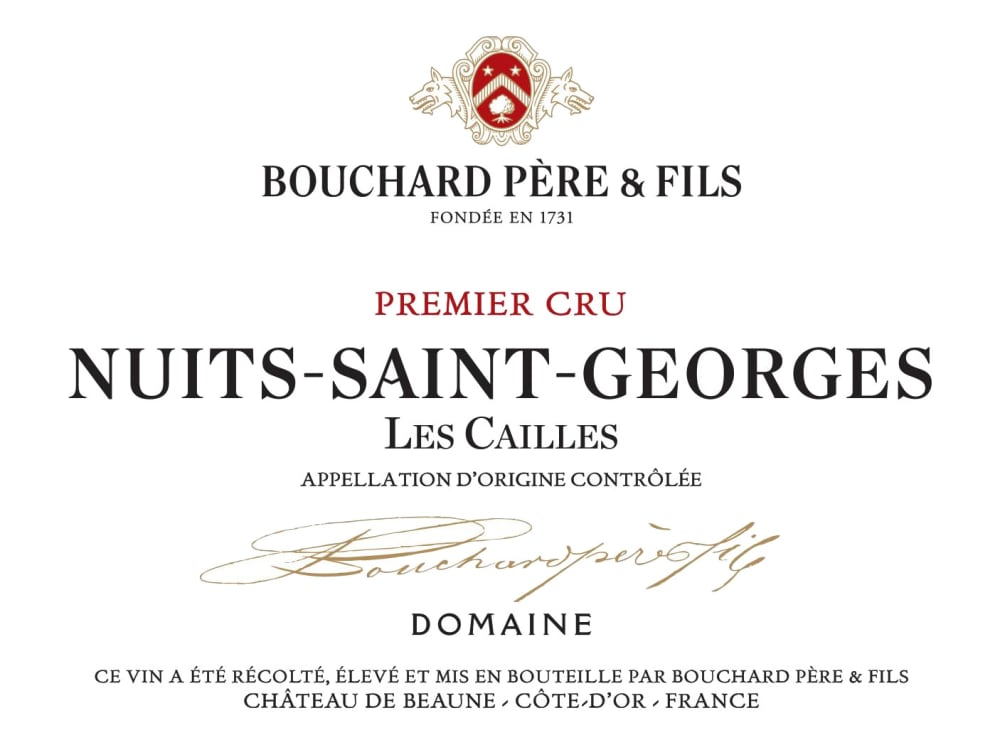 Bouchard Pere & Fils 2017 Nuits-St-Georges Les Cailles Premier Cru - Pinot Noir Red Wine