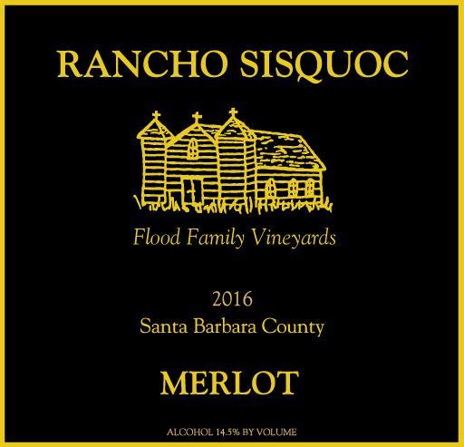 Rancho Sisquoc 2016 Merlot - Red Wine