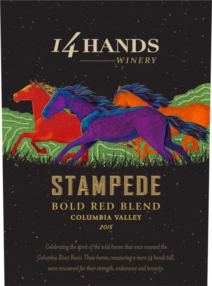 14 Hands 2015 Stampede Red Blend - Red Wine