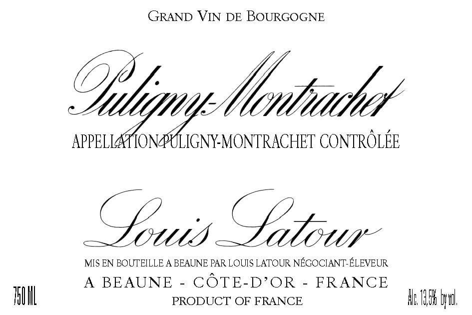 Louis Latour 2016 Puligny-Montrachet - Chardonnay White Wine