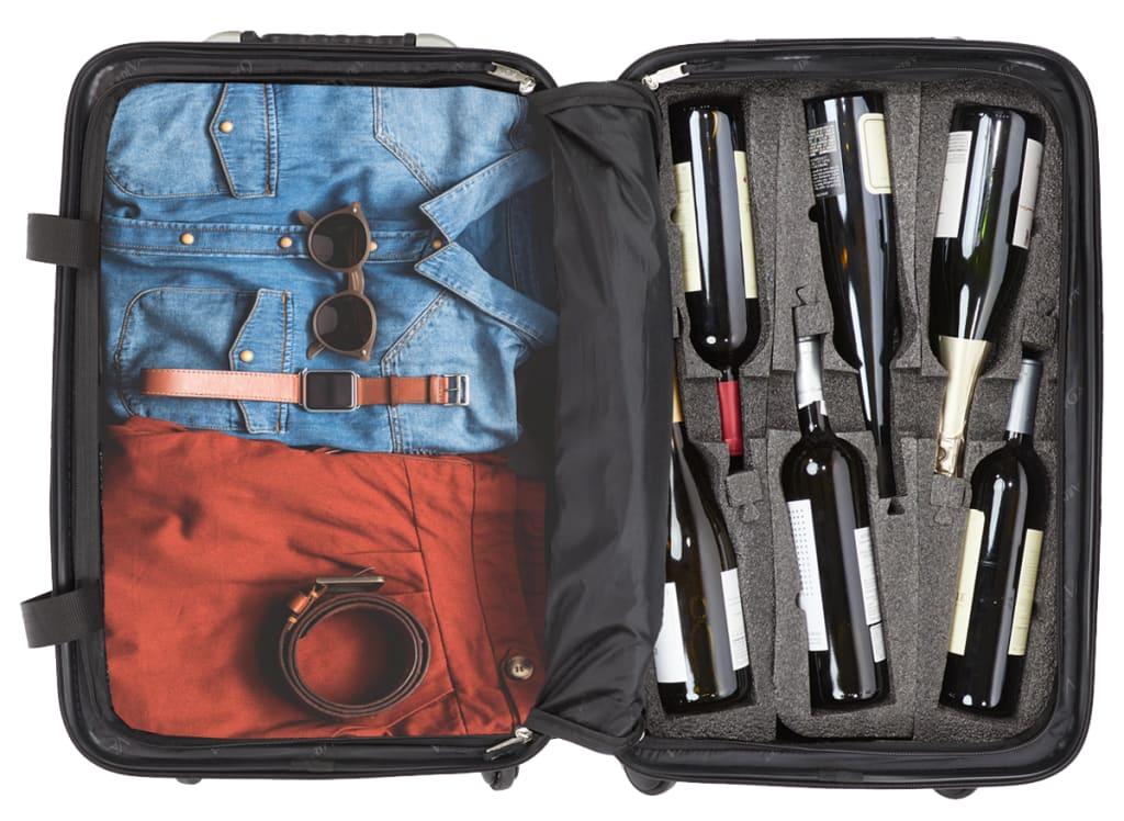 VinGardeValise 12-Bottle Wine Travel Suitcase