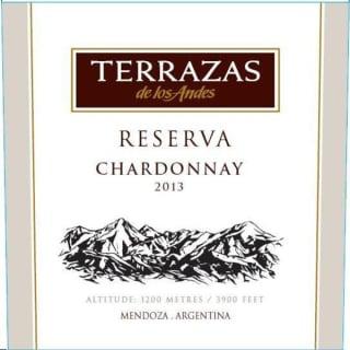 Terrazas De Los Andes Terrazas De Los Andes Reserva Chardonnay 2013