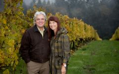 Ken Wright Cellars Ken & Karen Wright at Savoya Vineyard Winery Image