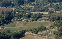 Alfaro Family Aerial view of the Alfaro Vineyard Winery Image