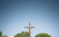 Chateau Lynch-Bages A Stone Cross Among the Vines Winery Image