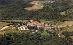 Castello di Volpaia Aerial View of Castello di Volpaia Winery Image