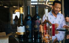LVE by John Legend John Legend with his range of LVE wines Winery Image