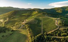 Castello di Albola Aerial view of the Estates Winery Image
