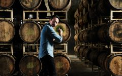 Cooper & Thief Tequila Barrels holding Sauvignon Blanc Winery Image