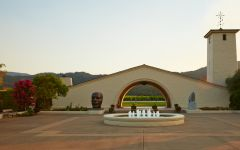 Robert Mondavi Entrance to Winery Winery Image