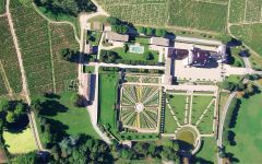Chateau de la Chaize Ariel view of Chateau de la Chaize Winery Image