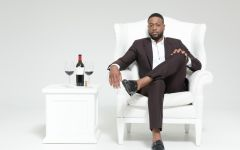 Wade Cellars Dwyane Wade with his Cabernet Winery Image