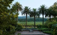 Spottswoode Estate Vineyard & Winery Spottswoode Pool with Palms Winery Image