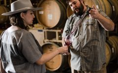 Pellegrini Alexia with Winemaker Charlie Fauroat Winery Image