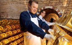 Louis Roederer Preparing bottles of Cristal Winery Image