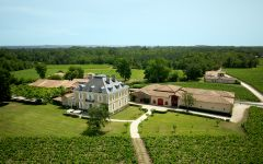 Chateau Haut-Bailly Aerial View of Chateau Haut-Bailly Winery Image
