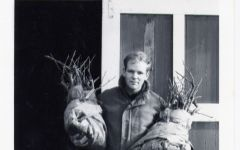 Eyrie David Lett with first vines 1965 Winery Image