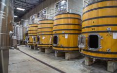 Pedestal 55 Hectolitre Upright French Oak Tanks Winery Image