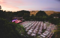 Wente Vineyards Concert venue at dusk Winery Image