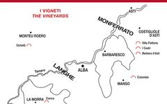 Renato Ratti Map of Barolo Vineyards Winery Image