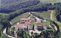 Caparzo Aerial View of The Estate Winery Image