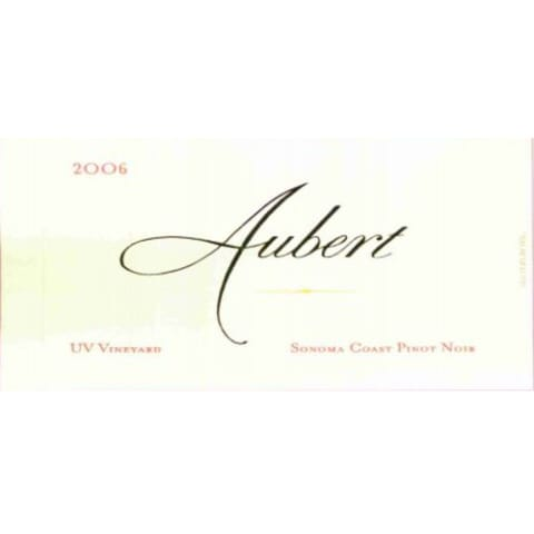 Aubert UV Vineyard Pinot Noir 2006 Front Label