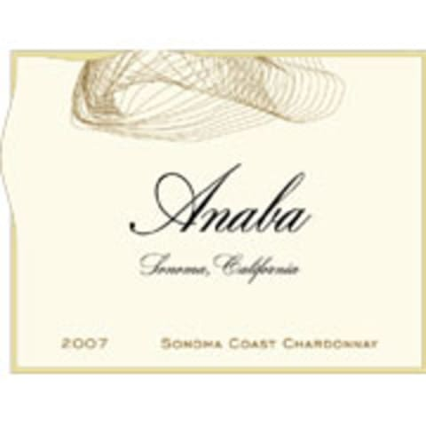 Anaba Chardonnay 2007 Front Label