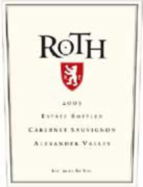 Roth Alexander Valley Cabernet Sauvignon (half-bottle) 2003 Front Label